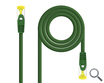 CABLE DE RED LATIGUILLO RJ45 SFTP CAT6A AWG26 TIPO 1 M VERDE NANOCABLE